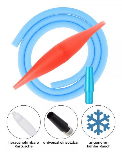 AO ICE Bazooka 2.0 Schlauchset Rot Skyblue ohne Schliff