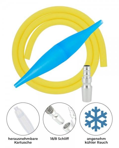 AO ICE Bazooka 2.0 Schlauchset Blau Gelb 18/8 Schliff