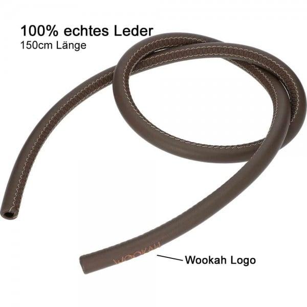 Lederschlauch Wookah Braun
