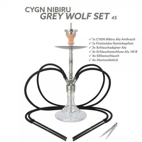 CYGN Nibiru Grey Wolf 4 Schlauch Alu Anthrazit