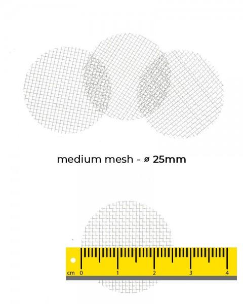 Aryva Medium Mesh Einlegesieb Ø=25mm - 100er-Pack