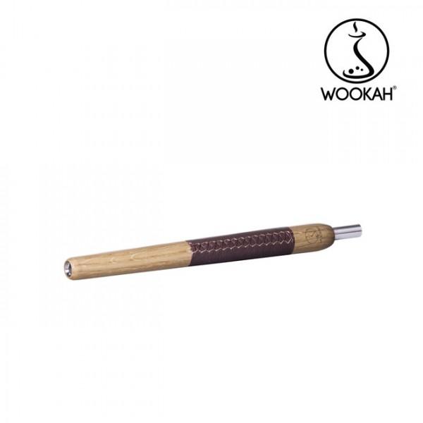 Holzmundstück Wookah Oak Leder Braun