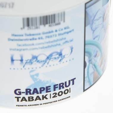 Hasso Tobacco Fucking Freezy G-rape-Fruit 200g