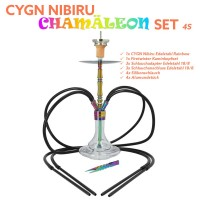 CYGN Nibiru Chamäleon 4 Schlauch Edelstahl Rainbow