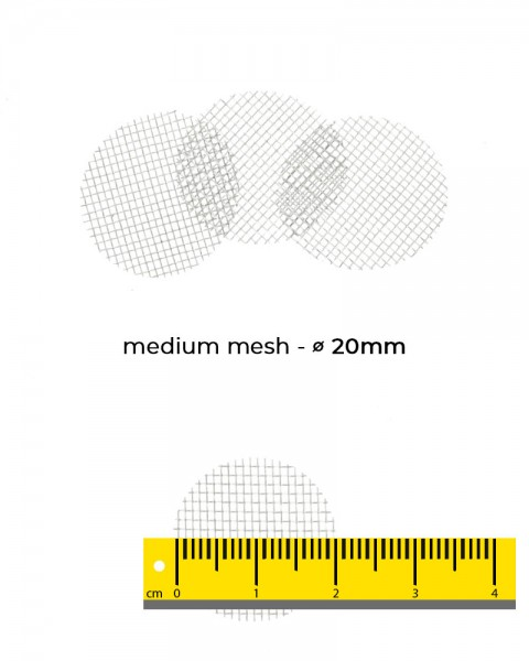 Aryva Medium Mesh Einlegesieb Ø=20mm - 100er-Pack
