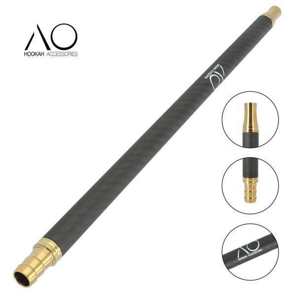 AO Carbon Mundstück Edelstahl V2A Gold Matt Schwarz