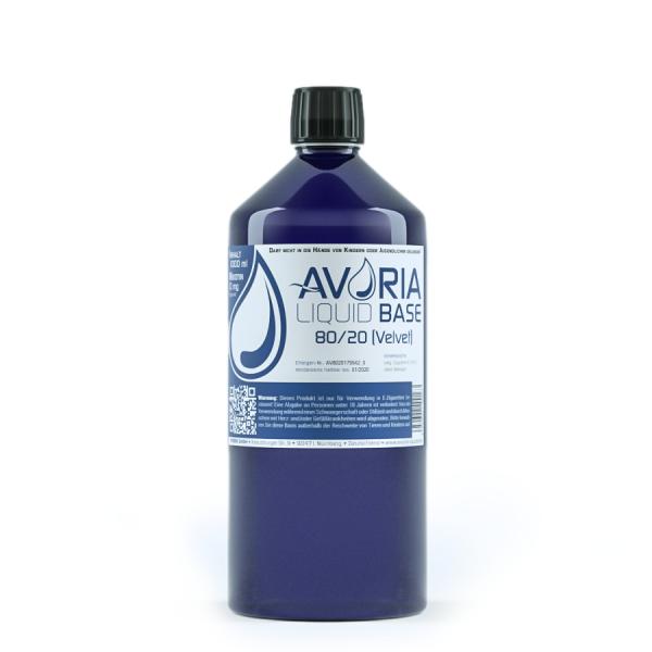 Avoria Velvet VG-H2O 80-20 Base