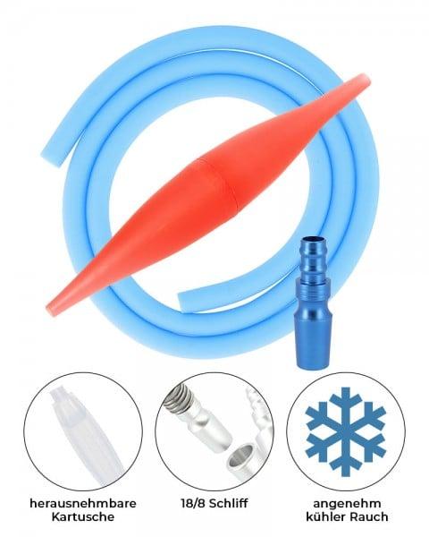AO ICE Bazooka 2.0 Schlauchset Rot Skyblue 18/8 Schliff