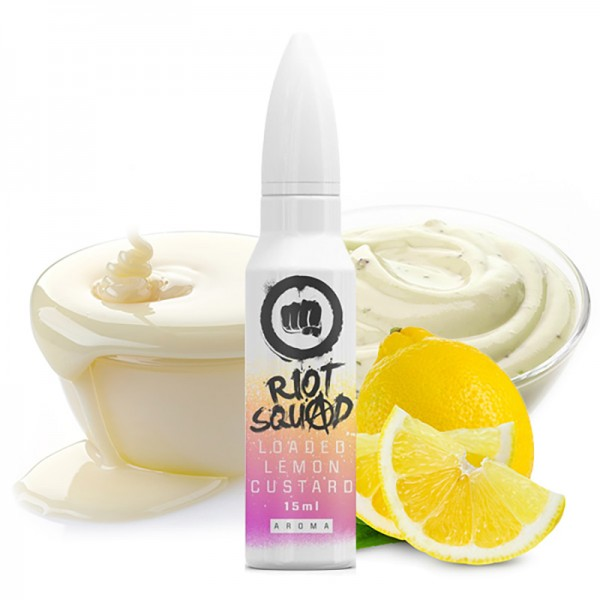 Riot Squad Shots Loaded Lemon Custard Aroma 15 ml
