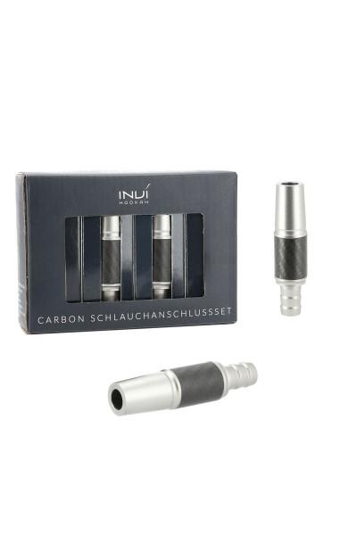 INVI Schlauchanschluss-Set Alu-Carbon Anthrazit 18/8