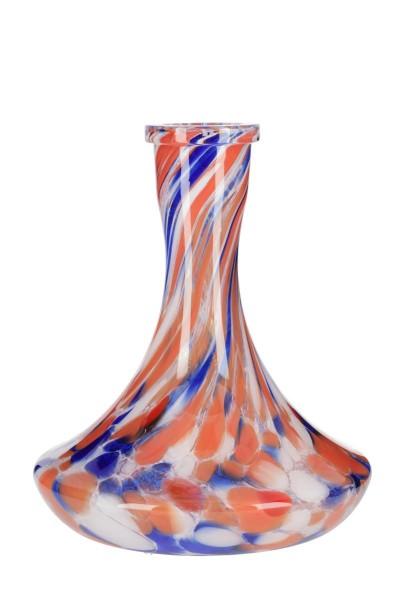 Ersatzglas HookahTree Steck-Bowl G2 Blue White Orange
