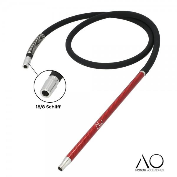 AO Carbon Schlauchset Rot 18/8