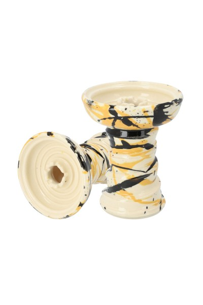 Stone Hookah Tabakkopf Fastball Black Stripes Yellow