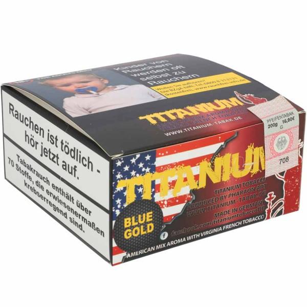 Titanium Tabak RF Blue Gold 200g