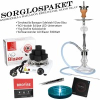 Smokezilla Baragon Edelstahl Glow Blau Complete Bright Set