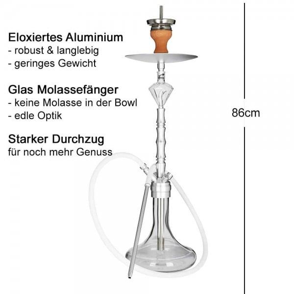 Smokezilla Minya Silber