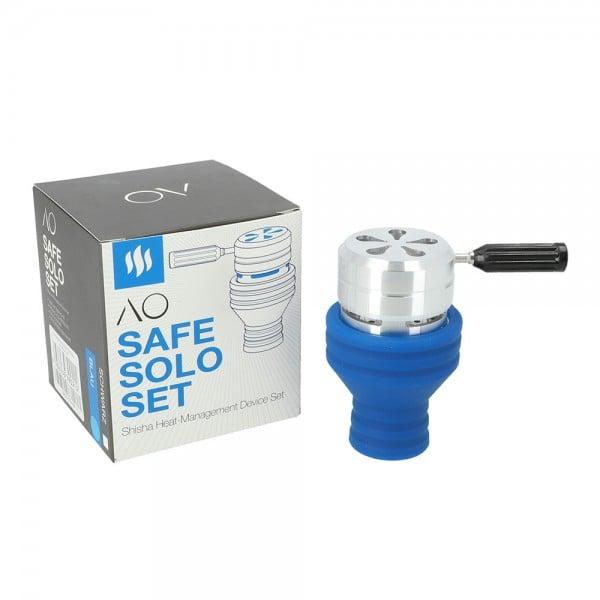 AO Safe Solo Silikon Set Blau