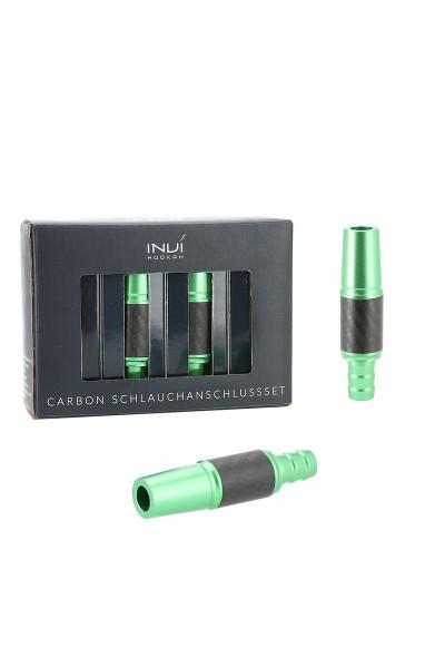 INVI Schlauchanschluss-Set Alu-Carbon Grün 18/8