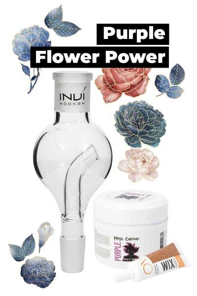 Invi Purple Flower Power Molassefänger Set 18/8
