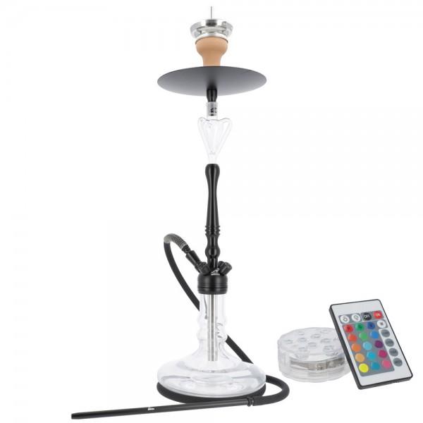 Smokezilla Viras Schwarz mit LED