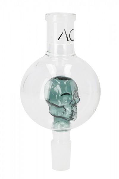 AO Glas Molassefänger 18/8 Skull Grasgrün