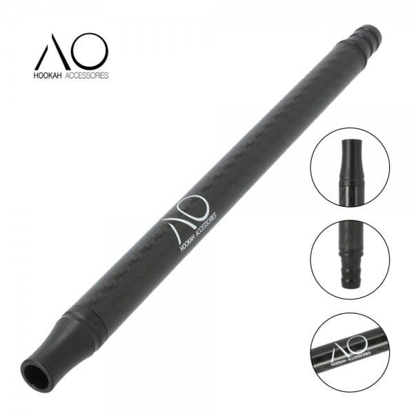 AO Alu-Carbonmundstück Schwarz