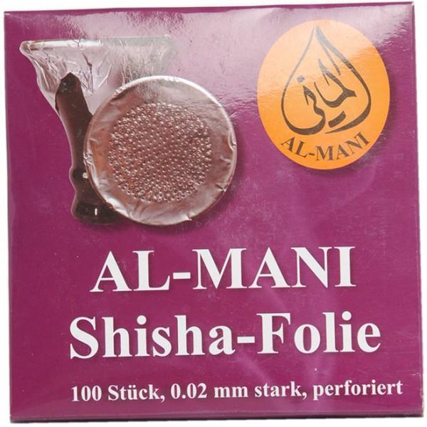 Al-Mani Shisha Alufolie 0.02mm perforiert - 100 Stück