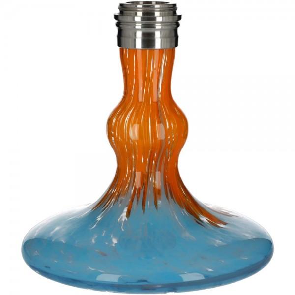 Ersatzglas Octopuz Nautiluz Edelstahl 2.0 Blau-Orange