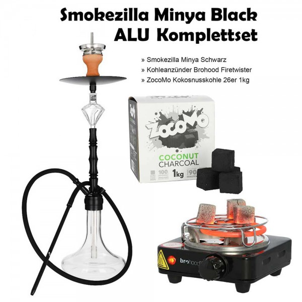 Smokezilla Minya Black ALU Komplettset